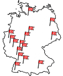 Deutschland Karte Fähnchen Fabelhafte Ballons b